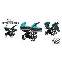 Baby Active Twinni Iker Babakocsi (zöld)