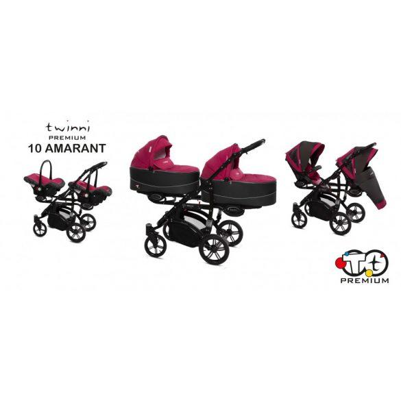 Baby Active Twinni Iker Babakocsi (Amarant)
