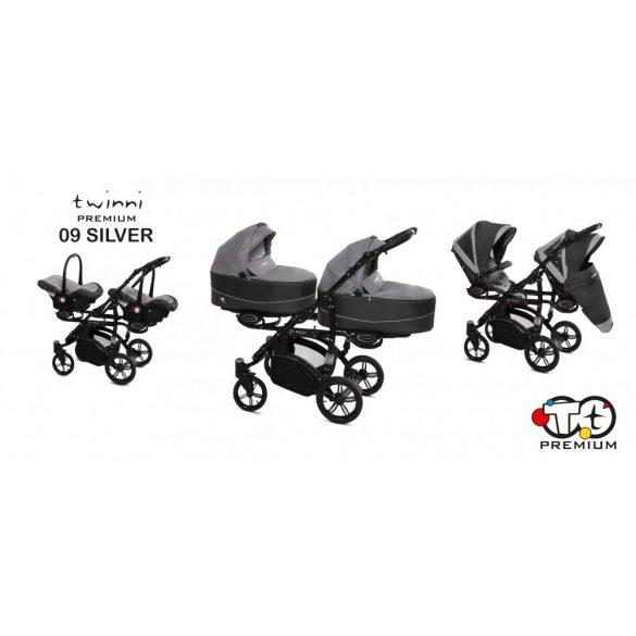 Baby Active Twinni Iker Babakocsi (Ezüst)