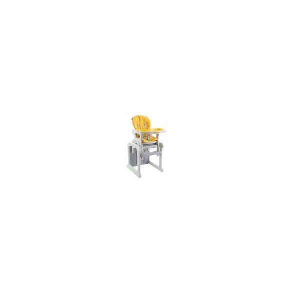 Baby Point Gracia átalakítható etetőszék (sárga-szürke)