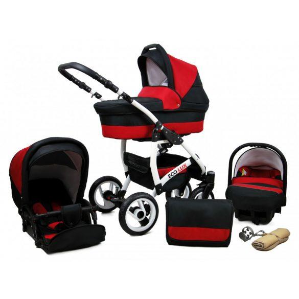 Eco Lux Multifunkciós Babakocsi (59 - fekete-piros)
