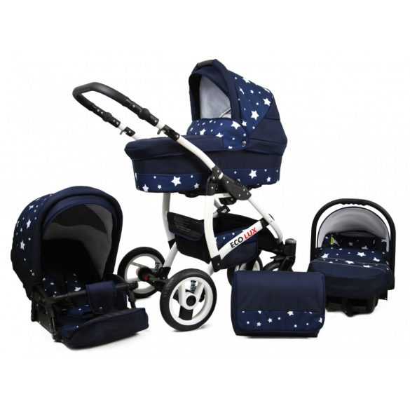 Eco Lux Multifunkciós  Babakocsi (56 - blue star)