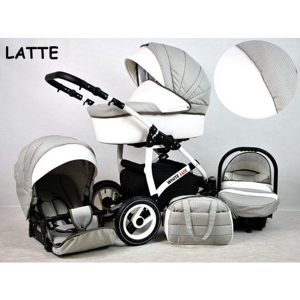 White Lux Multifunkciós Babakocsi (latte)