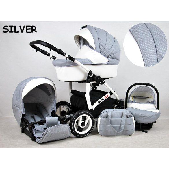White Lux Multifunkciós Babakocsi (ezüst)
